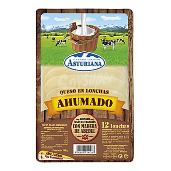 Central Lechera Asturiana Queso en lonchas ahumado 180 g