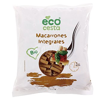 Ecocesta Macarrones integrales bio bolsa 500 gr