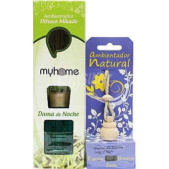 S&S Myhome ambientador natural mikado Dama de Noche + ambientador natural para pequeños espacios aroma dama de noche