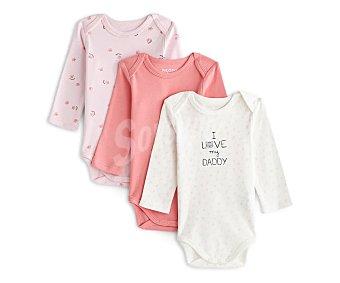 In Extenso Lote de 3 bodies de algodón para bebé Talla 74.