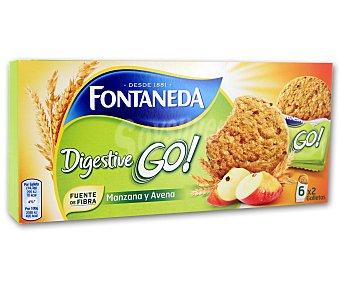 Fontaneda Galletas digestivas de cereales con manzana 171 gramos