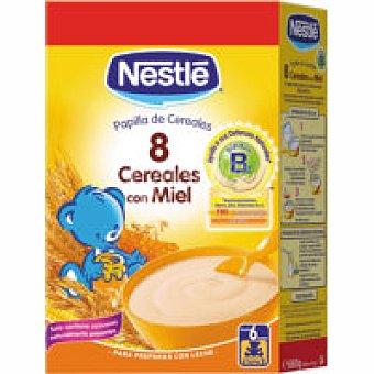 Nestlé Papilla 8 cereales con miel Caja 600g + 10%