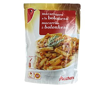 Auchan Macarrones a la boloñesa, 142 gramos