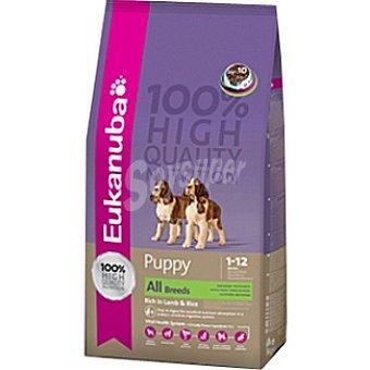 EUKANUBA PUPPY & JUNIOR Alimento completo y equilibrado para cachorros de todas las razas con cordero y arroz Bolsa 15 kg