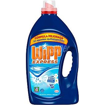 Wipp Express Detergente máquina líquido gel quitamanchas activo con el perfume Vernel botella 44 dosis 44 dosis