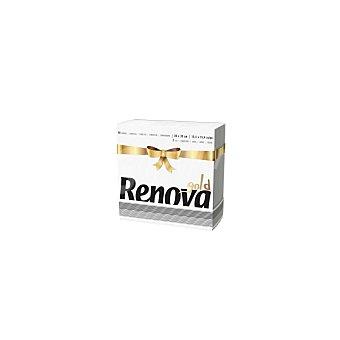Renova Servilletas 2 capas Gold 75pz Blanca Decoradas 75 Ud