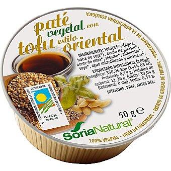 Soria Natural Paté vegetal con tofu al estilo oriental bio envase 50 g Envase 50 g