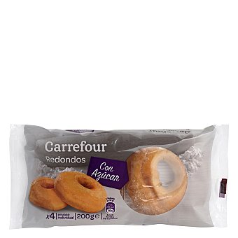 Carrefour Redondos con azúcar 4 ud