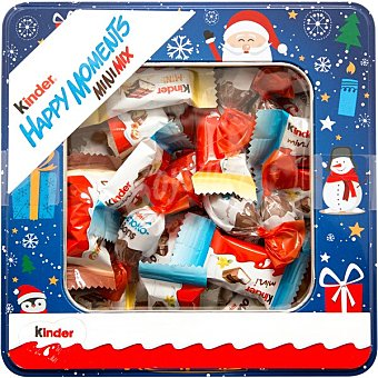 Moments Kinder happy Mini Mix snacks de chocolate surtidos Lata 197 g