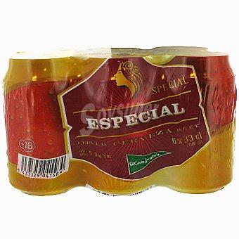 El Corte Inglés Cerveza rubia Especial pack 6 latas 33 cl Pack 6 latas 33 cl