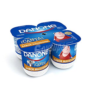 Danone Yogur de macedonia 4 unidades de 125 g
