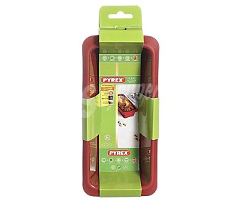 PYREX Molde rectangular par plum cake fabricado en silicona modelo Fexi Twist, 24 centímetros de diámetro 1 unidad