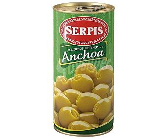 Serpis Aceitunas verdes manzanilla rellenas de anchoa 170 gramos