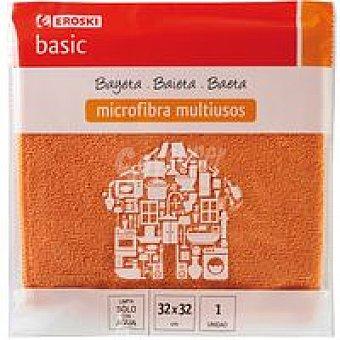 Eroski Basic Bayeta de microfibra básica Pack 1 unid