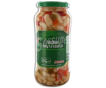 Auchan Alubias con verduras 400 gramos