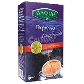 Baqué Café molido espresso descafeinado Caja 250 g
