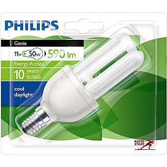 Philips Genie 11 W (50W) lampara ahorro blanco frio casquillo E14 (fino) 220-240 V