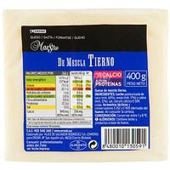 Eroski Queso mezcla tierno 400 g