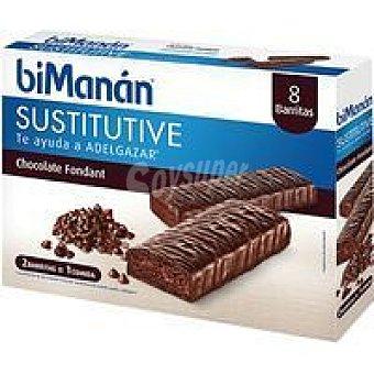 Bimanan Barritas de chocolate negro fondant Caja 10 uds