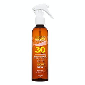 Deliplus Protector solar corporal fps 30 acelerador bronceado toque seco spray (aceite) Botella 200 ml