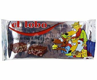 EL LOBO Turrón de chocolate crujiente de calidad suprema 200 gramos