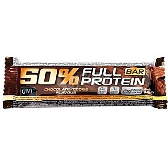 QNT 50% Full Protein barrita energética sabor chocolate  envase 50 g