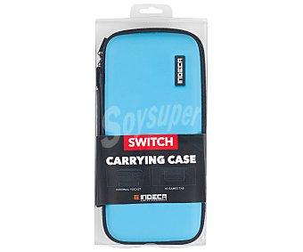 Indeca Bolsa de transporte para Nintendo Switch, color azul neon indeca