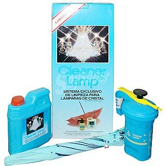 CLEANER LAMP Limpiador de lamparas de cristal en pulverizador envase 1 l + recambio 2 l + paraguas especial limpialamparas Envase 1 l
