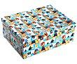 Caja de ordenación multiúsos de cartón con tapa, varios diseño disponibles, 35,5x27x13,5 versa  Versa