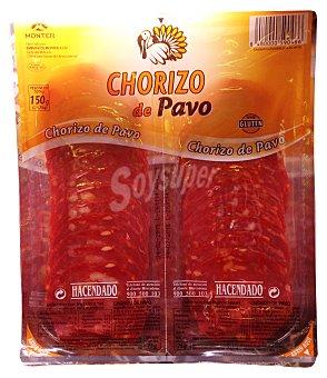 Hacendado Chorizo pavo lonchas Paquete 150 g