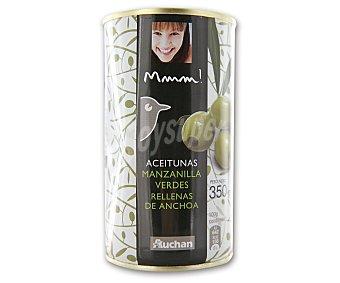 Mmm Auchan Aceitunas manzanilla verdes rellenas de anchoa 150 gramos
