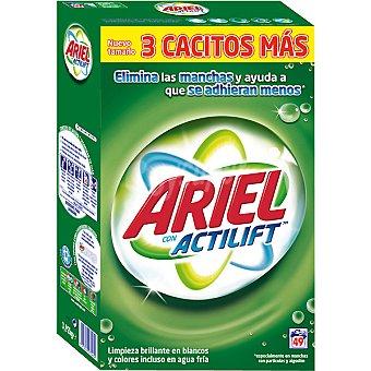 Ariel Detergente máquina polvo con actilift Maleta 49 cacitos