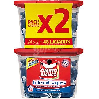 Omino Bianco Detergente máquina líquido con bicarbonato natural Idro Caps pack 2 envase 24 capsulas