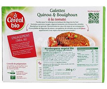 CEREAL BIO Hamburguesa vegetal Bio de quinoa y bulgur con tomate 200 Gramos