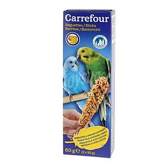 Carrefour Barritas para Periquitos con Frutas Pack 2 x 60 gr