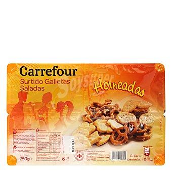 Carrefour Surtido galletas saladas 250 g