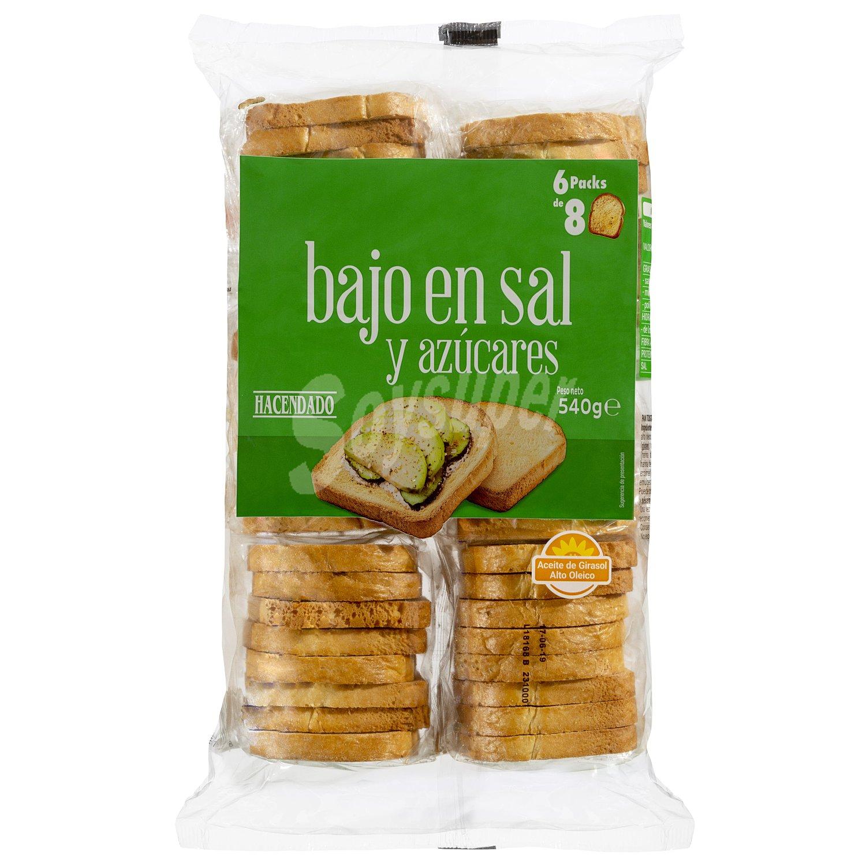 Hacendado Pan Tostado Blanco Bajo En Sal Y Bajo En Azucar Paquete 540 G