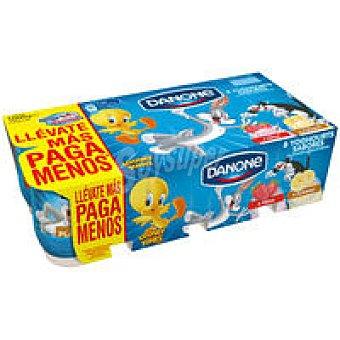 Danone Yogur Fresa-Plátano pack-8