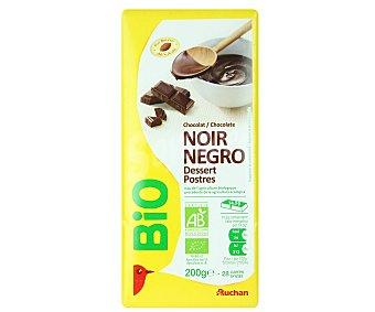 Auchan Chocolate negro escológico especial postres 200 gr