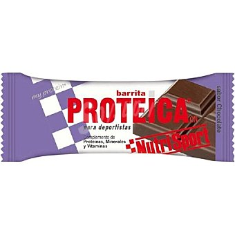 Nutrisport barrita proteica sabor chocolate envase 44 g