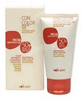 Solcare Protector solar facial F50+ color Tubo 75cc