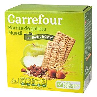 Carrefour Galleta de barritas muesli 210 g