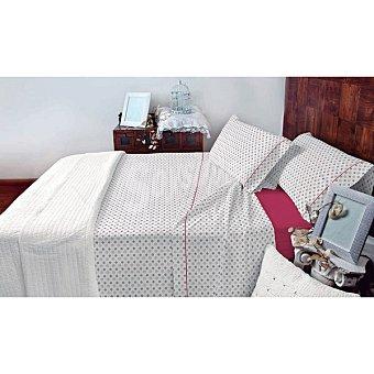 CASACTUAL Huelva Juego de cama con dibujo de topos en color vino