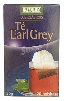 Hacendado Infusion te earl grey 20 bolsitas - 35 g