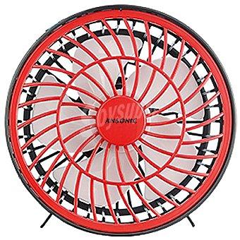 ANSONIC HW-214 Ventilador mini en color rojo 1 Unidad