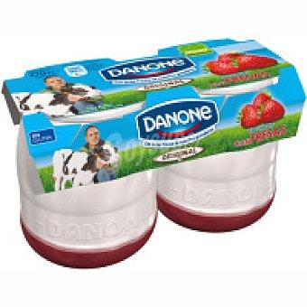 Original Danone Yogur con fresas enriquecido Pack 2x140 g