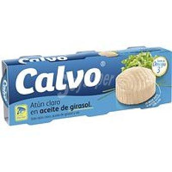 Calvo Atún claro en aceite de girasol Pack 3x115 g