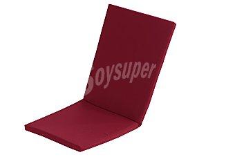 Comatex Cojín y respaldo para silla modelo Grey Line de color rojo burdeos, de 95x44x3 centímetros, lavable y de gran resistencia al exterior 1 unidad