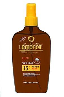 Ecran Lemonoil Aceite solar coco, Factor 15 200 Mililitros