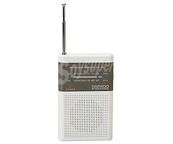 Daewoo Radio portátil DRP-100 con altavoz, am/fm, salida auriculares con altavoz, am/fm, salida auriculares